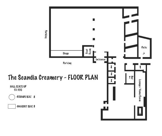 Scandia Creamery Floor Plan